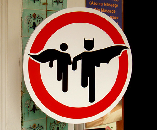 Superheroes crossing | by Brett Jordan