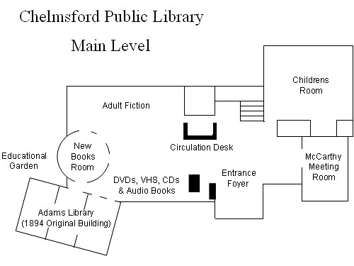 Floorplan - Main Level | by chelmsfordpubliclibrary