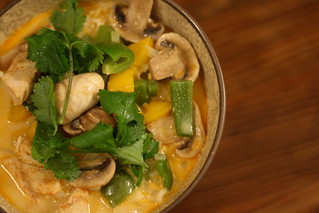 Mango-Coconut Chicken Curry with Mushroom, Green Pepper, and Coriander | by arsheffield