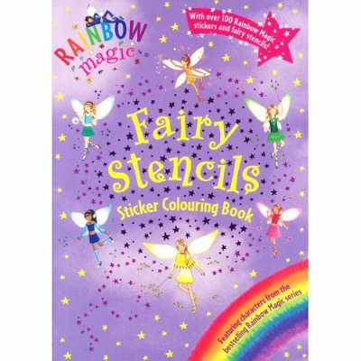 Rainbow magic fairy stencils sticker colouring book for Rainbow magic fairy coloring pages