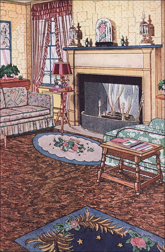 1931 sealex veltone linoleum in the living room flickr. Black Bedroom Furniture Sets. Home Design Ideas