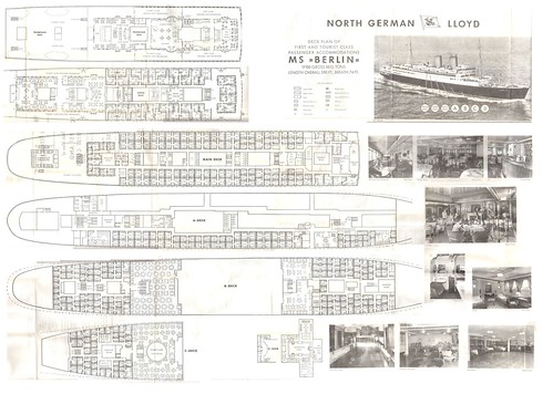 Ms berlin deck plan 1961 the deck plan is about the size for 15th floor berlin