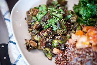 Mole Roasted Brussels Sprouts | by swellvegan