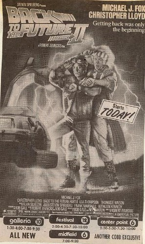 1989 Back to the Future Part II newspaper ad | by Paxton Holley