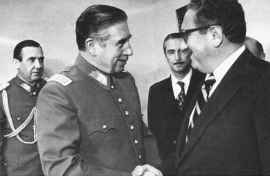 "kissinger w pinochet from the movie ""Condor"""