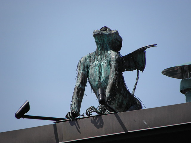 Winged monkey sculpture in Burlington VT