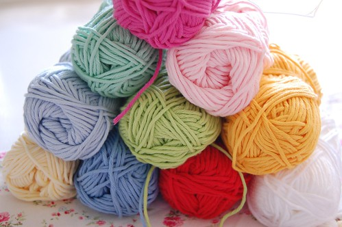 cotton yarn for my granny squares | by whereyourheartis