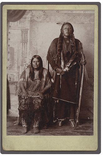 [Au-Pia Goodle or Red Otter, Kiowa Medicine Man and Wife] | by SMU Central University Libraries