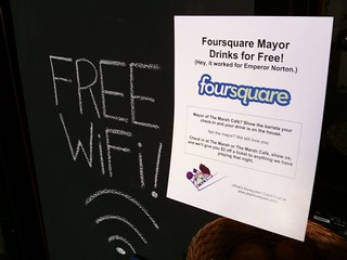 $$ off for foursquare checkins and the mayor drinks for free! | by @superamit