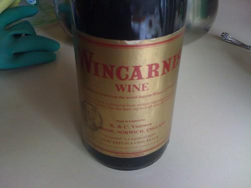 White Cat Wine Bottle