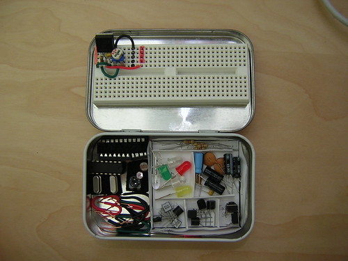 Altoids Tin Electronics Lab (open) | by Nick Ames