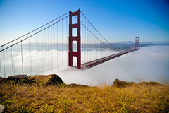 fog on the Golden Gate bridge | by tibchris