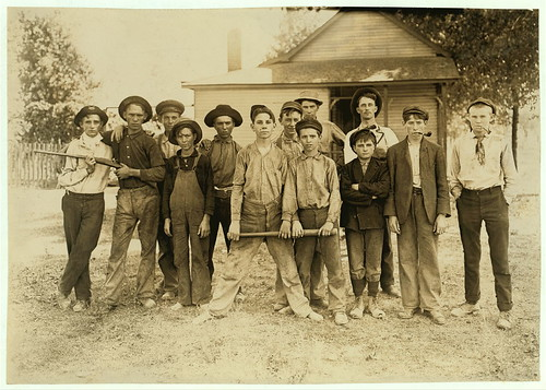 The Ball Team. Composed mainly of glass workers. Indiana. Aug. 1908. L.W.H. [Lewis Wickes Hine].  (LOC) | by The Library of Congress
