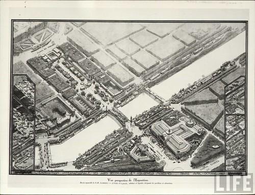 Exposition Arts Decoratifs Paris  Plan