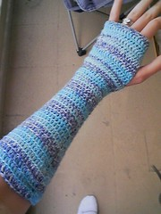 fingerless glove striped | by mooncobress