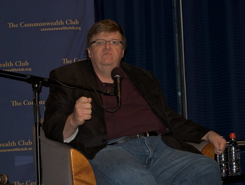 Michael Moore at the Commonwealth Club in San Francisco | by Steve Rhodes