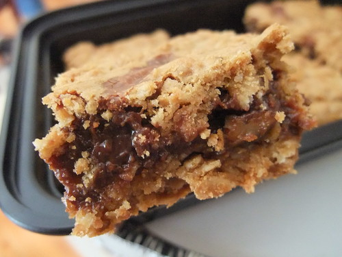 Butter Pecan Oat Bars with Chocolate Filling | by swampkitty