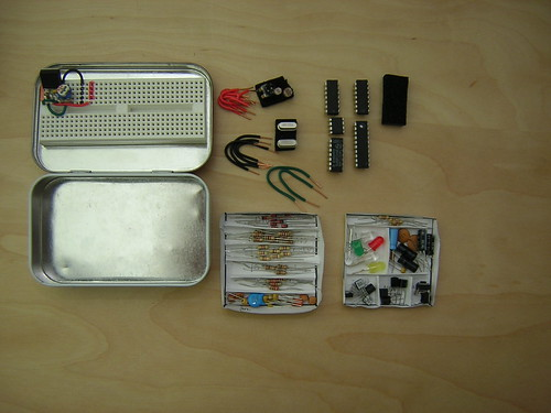 Altoids Tin Electronics Lab (everything out) | by Nick Ames