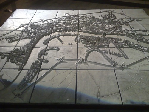 Relief map of old London Near