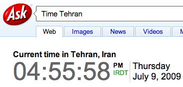 Time in Tehran Ask | by rustybrick