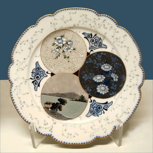 Assiette Porcelaine Decor Serviette Papier Motifune Rose