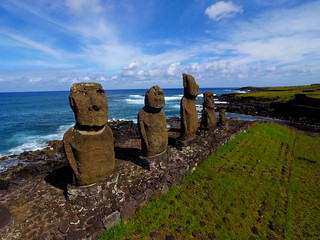 Tahai, Easter Island seen from a Pole | by Pierre Lesage