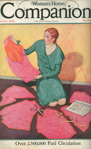 Book Cover Sewing S ~ Woman s home companion cover october genibee flickr