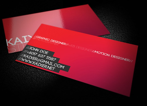 Minimal Style Business Card | by kaixer group