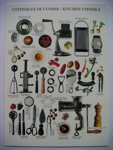 ustensiles de cuisine kitchen utensils shintapostcard flickr. Black Bedroom Furniture Sets. Home Design Ideas