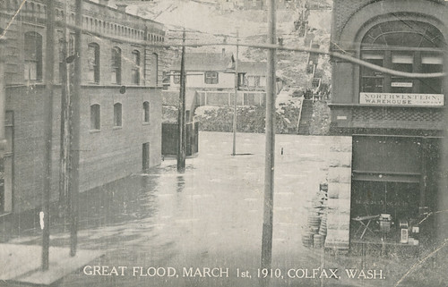 Great Flood, March 1, 1910 - Colfax, Washington | by Shook Photos