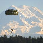 Jump over Mt. Rainier