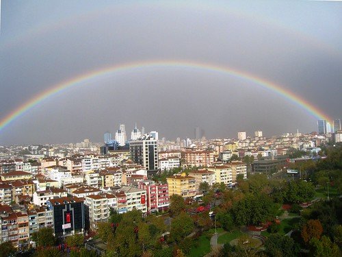 Surreal Rainbow Over Istanbul | by Erman Akdogan