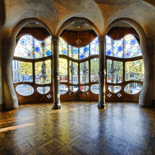 Spain - Barcelona - Casa Batllo Interior - sq v2 | by Darrell Godliman