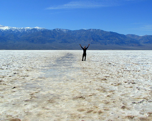 "standing on ""BADWATER"" 