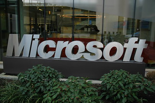 Microsoft sign, campus, Redmond, Washington, USA | by Wonderlane