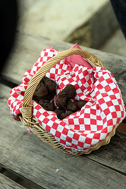red basket of truffles | by David Lebovitz