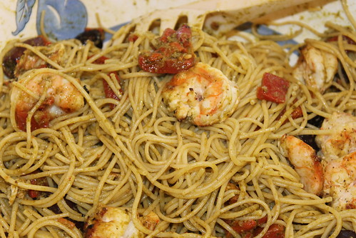 86/365/1912 (September 5, 2013) - Grilled Shrimp Mediterranean with Pasta | by cseeman