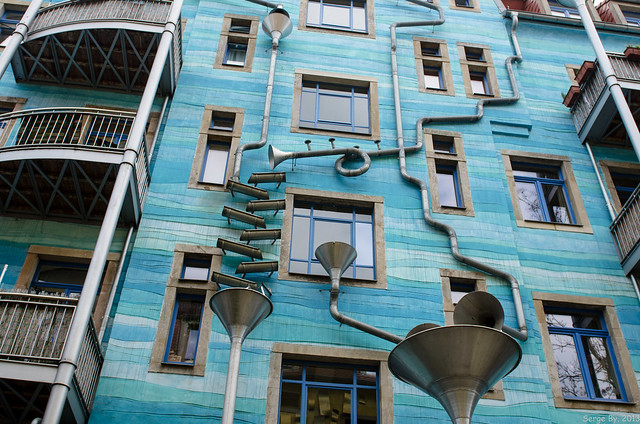 Культура: Kunsthofpassage Funnel Wall
