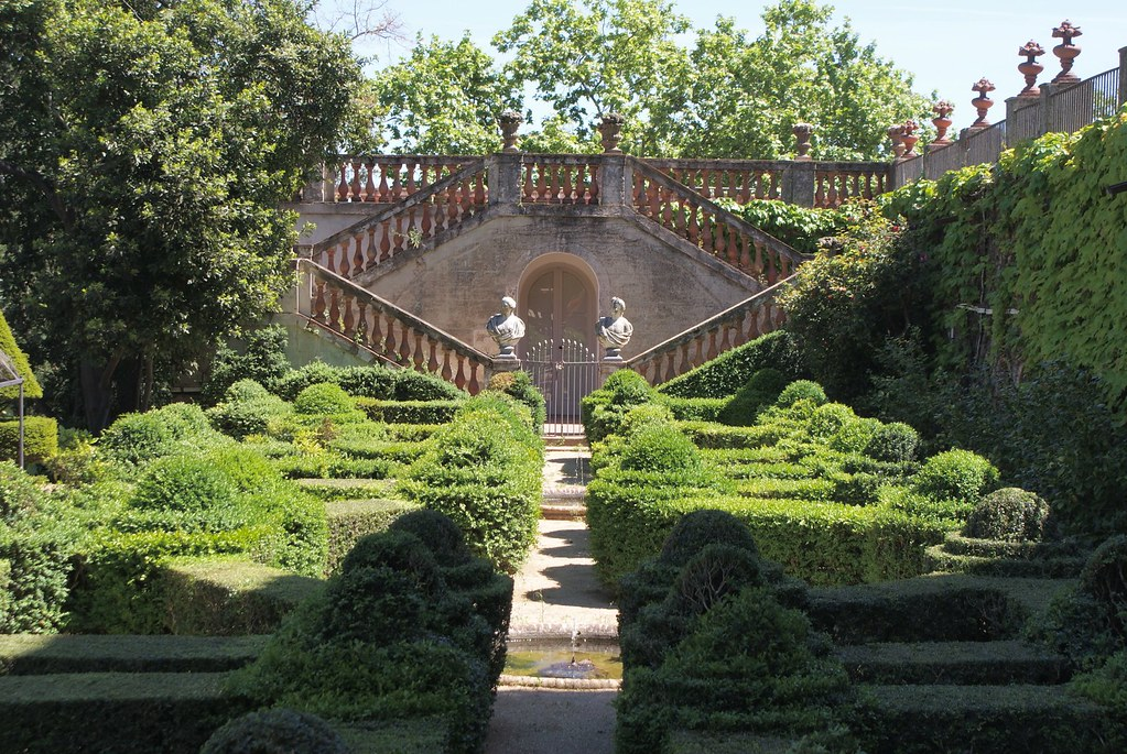 Jardin à la française à Horta au nord de Barcelone.