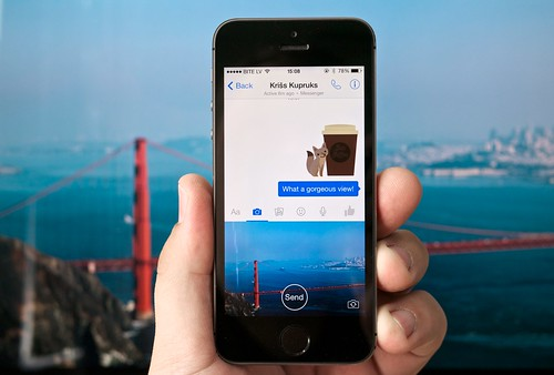 Facebook Messenger app camera