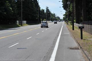 NE Halsey in east Portland