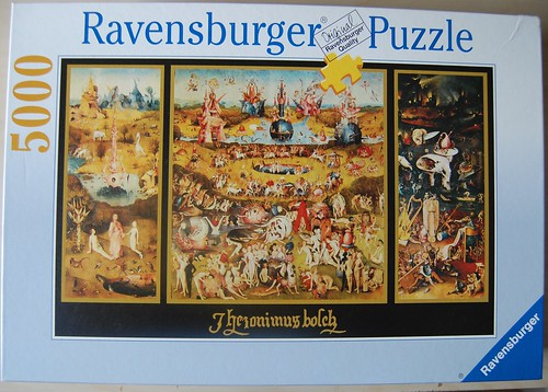 Ravensburger 5000 piece puzzle the garden of earthly del for Custom 5000 piece puzzle