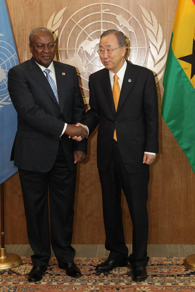 Ban Ki Moon receives President Mahama