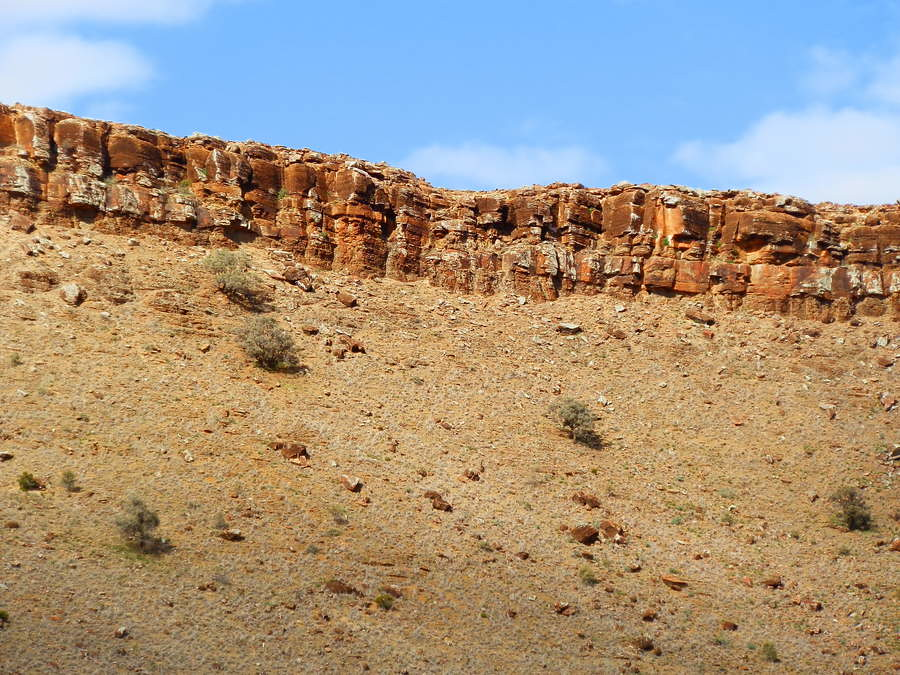 Great Wall of China Rock, via Blinman, Northern Flinders Ranges
