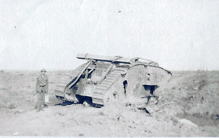 A disabled tank near Somme Redoubt