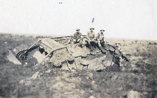 Another disabled tank near Somme Redoubt