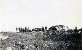 Stretcher bearers around Somme Redoubt