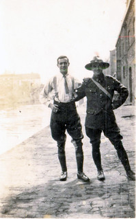 Sgt Campbell & L-Corp Godsland at Armentieres