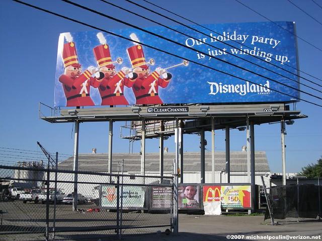Disneyland Holiday billboard 2007 La Mirada,CA off the 5 FWY