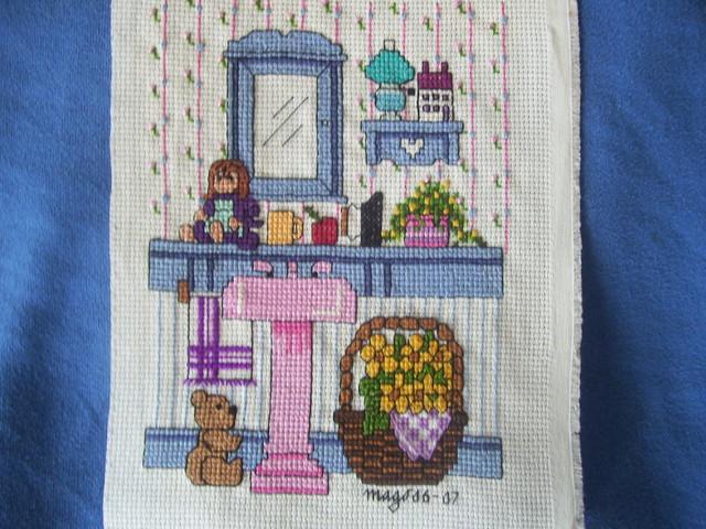 Punto De Cruz Baños   Cross Stitch Bathroom Punto De Cruz Bano Azul Bordado Flickr